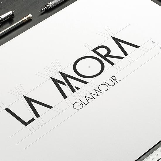 BRAND IDENTITY LA MORA GLAMOUR